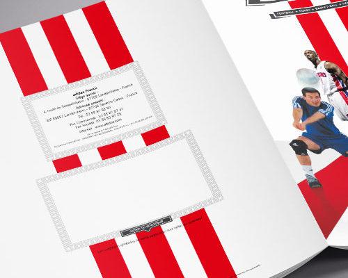 Création catalogue club Adidas