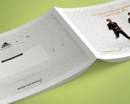 Création brochure adidas running