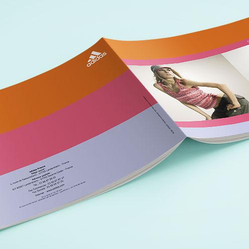 Création brochure adidas running femme