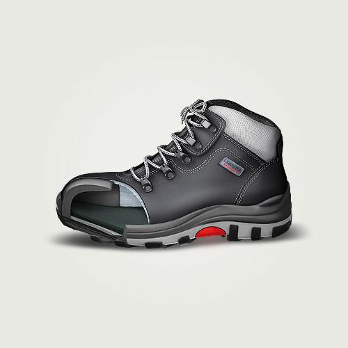Création, modélisation et rendu 3D, chaussure de sécurité Lemaitre, Fabricant de maroquinerie à La Walck