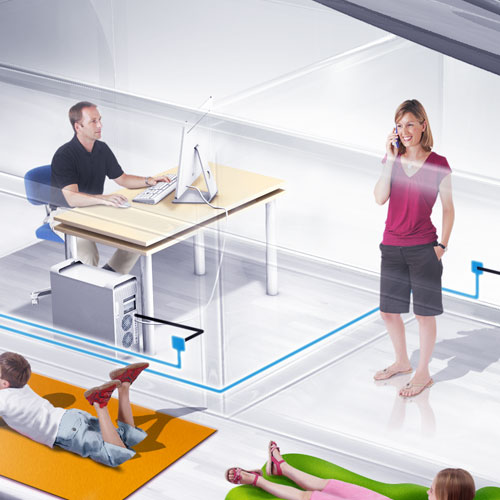 Création, modélisation et rendu 3D, compositing, montage image, Réseau VDI Hager, prise RJ45