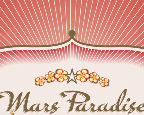 création imprimé t-shirt, transat, touillette, Mars Paradise