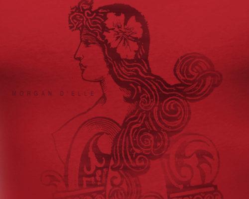 Création identité visuelle Morgan de lui, Morgan d'elle, impression t-shirt