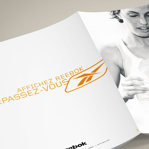 Création catalogue apparel and accessories Reebok printemps été
