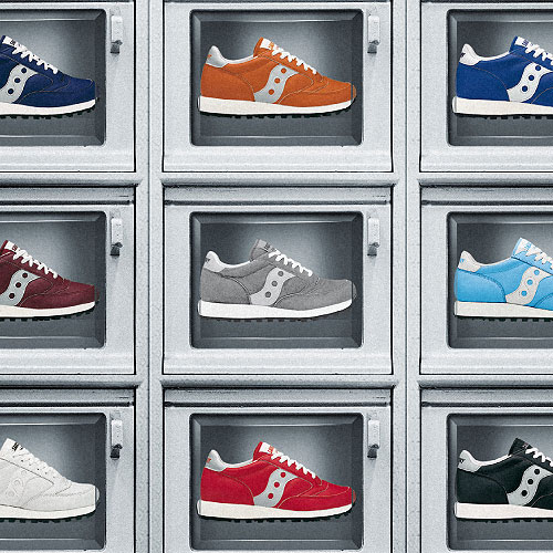 création montage image Saucony the Original running shoe