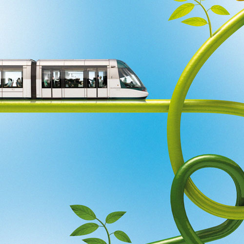 Modélisation et rendu 3D, compositing, montage image Tram de Strasbourg