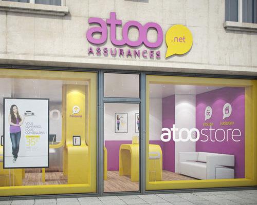 création, modélisation et rendu 3d aménagement intérieur boutique assurances