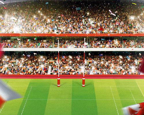 Création, modélisation et rendu 3D, compositing, montage image, Coupe du monde de Rugby, Carlsberg