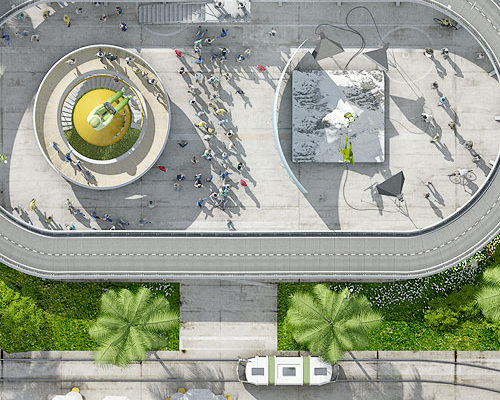 Création, modélisation et rendu 3D, Porte-avion USS Kitty Hawk Connecting Place Strasbourg
