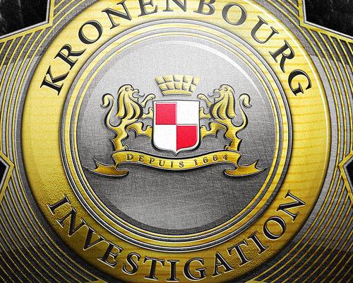 création, carton invitation, roadbook, pass, montage image convention Brasserie Kronenbourg à Bruxelles