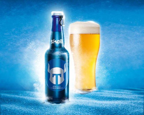création, compositing, montage image Bière Skoll Tuborg des Brasseries Kronenbourg