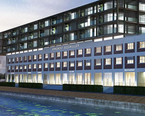 modélisation et rendu 3d projet immobilier les Docks sur la presqu'île Malraux à Strasbourg