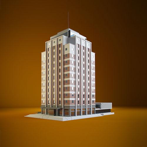 Création, modélisation et rendu 3D, modélisation et rendu 3D pour la maison universitaire de Strasbourg