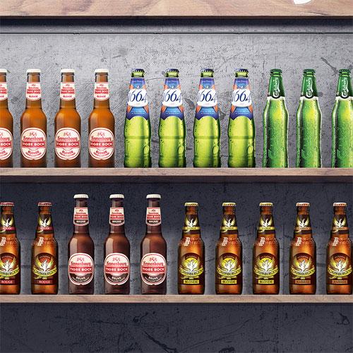 Création, modélisation et rendu 3D, compositing, montage image, Kakemono multi-marque pour les Brasseries Kronenbourg