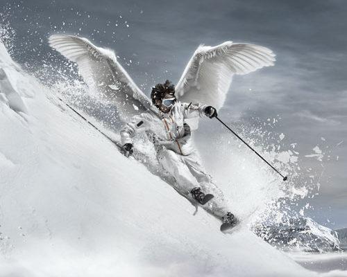 compositing, montage image pour Paradiski, welcome to paradise, le domaine skiable de la station des Arcs