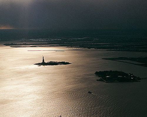 photographie baie de New-york, vue depuis le world trade center