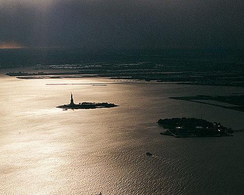 photographie baie de New-york, vue depuis le world trade center