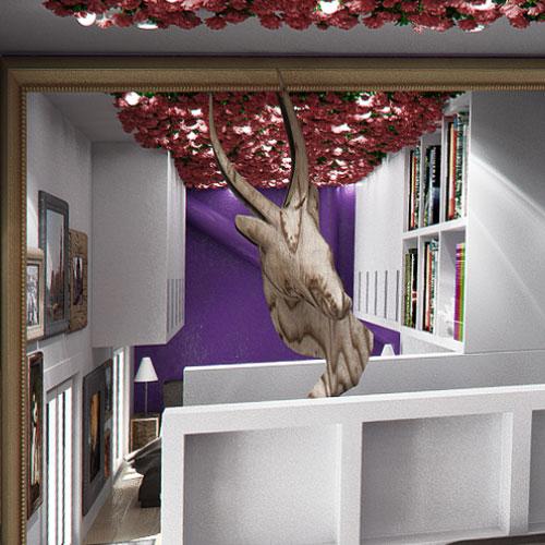 Création, modélisation et rendu 3D, rénovation ancienne parties communes, ancien à rénover, tyni flat, micro appartement