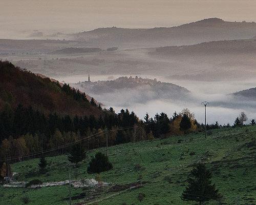 Photographie dans les Vosges, lever de soleil sur Grendelbruch