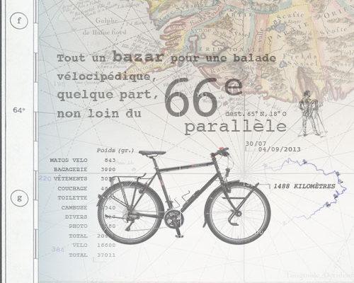 Photographie préparation matériel voyage à vélo en Islande