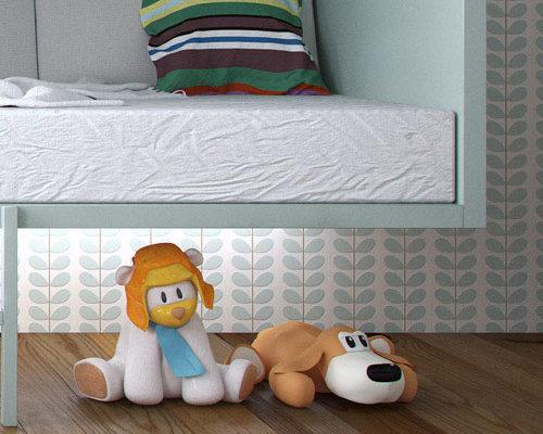 chambre pour enfant, 3D cinema 4D vray