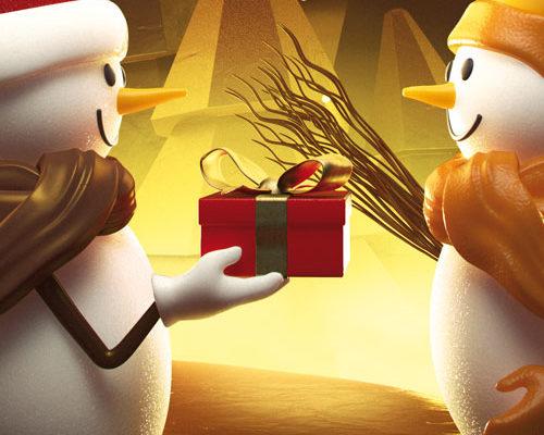 bonhomme de neige, chocolat, hiver, noël, sapin de noël en chocolat, pâtisserie Christian à Strasbourg, 3D